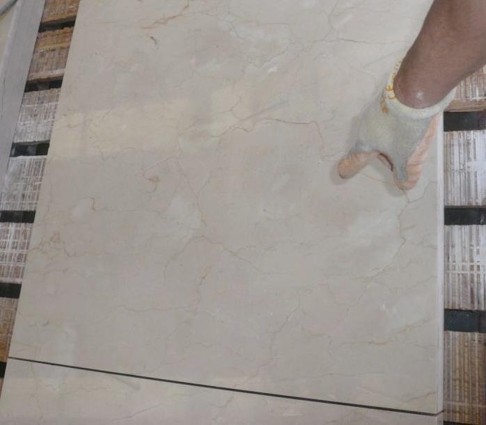 Standard Quality Crema Marfil Tiles - Freshly Cut